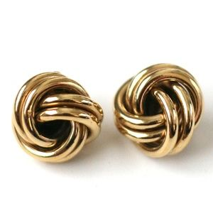 Vintage Givenchy gold knot clip earrings